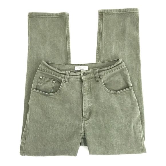 Cherokee Denim - Vintage 90's 00's Hi Rise Olive Green Mom Jeans 28